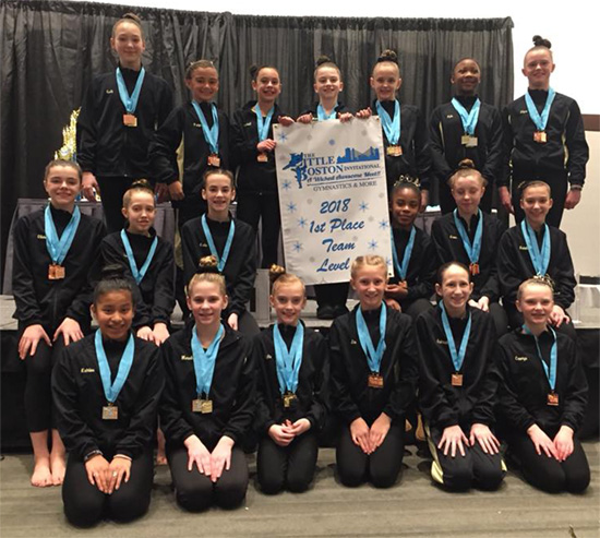 Level 5 Team in Boston | Bright Raven Gymnastics