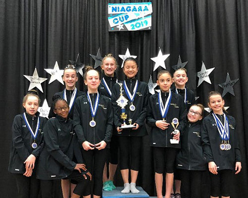 Bright Raven Gymnastics Level 5 Team Wins First at Niagara Cup