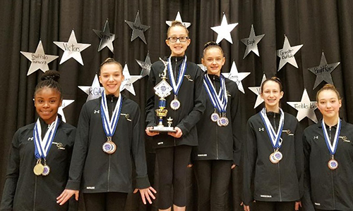Bright Raven Gymnastics Level 6 Team Wins First at Niagara Cup