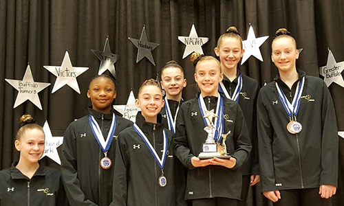 Bright Raven Gymnastics Level 7 Team Wins First at Niagara Cup